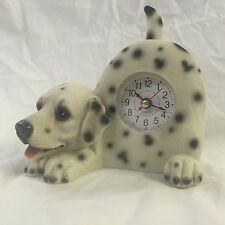 4th of JULY SALE Critter Clock Dalmatian Tabletop Wagging Tail Puppy Fire Dog