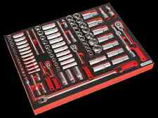 "Sealy Tool Tray with Socket Set 91pc 1/4"", 3/8"" & 1/2""Sq Drive TBTP02"