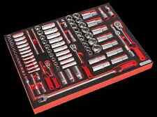 "Sealy herramienta Bandeja Con Socket Set 91pc 1/4, 3/8 "" & 1/2"" Sq Disco tbtp02"