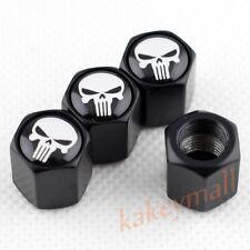 4pcs Tire Valve Stem Cap Wheel Tyre Air Dust Hat Cover Trim Skull Punisher Badge