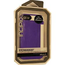 Original INCIPIO STOWAWAY iPhone 5 5S Credit Card Case + Kickstand PURPLE