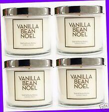 4 Bath & Body Works VANILLA BEAN NOEL Medium Jar Candle Single-Wick 4 oz ea
