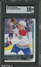 2018-19 Upper Deck #249 Jesperi Kotkaniemi RC Rookie Canadiens SGC 10 GEM MINT