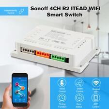 SONOFF 4CH R2 ITEAD 4 Channels Din Rail Mounting WiFi Wireless Smart Switch E8D5