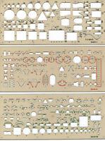 Elektroschablone  Elektroschablonen Satz 3-teilig Installation Schaltplan