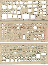 Schablone Elektro Elektroschablonen Satz 3-teilig Installation Schaltplan