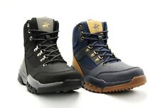 NEW MEN BEVERLY HILLS POLO CLUB JARED BLACK OR BLUE HIKING CASUAL LACE UP BOOTS