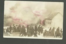 Williston NORTH DAKOTA RP 1913 FIRE Flames Disaster HAND-COLORED Dore ND DPO
