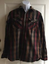 Harley Davidson Men's Embroidered Long Sleeve Button Down Shirt sz M