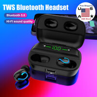 Bluetooth 5.0 Earbuds TWS Wireless Earphones Mini Headset Stereo Headphones IPX7