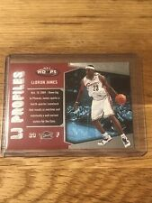 🏀☄️🇺🇸2005-06 Hoops LJ Profiles LeBron James #lbj3- Mint-Caverliers