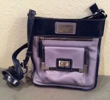 Americana By Sharif Purple/Gray With Blue, Genuine Leather Purse, Handbag