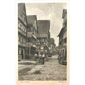 Vintage Postcard, Schorndorf, Hollgasse, Strahle House