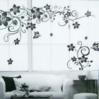 Wall Sticker Decal Butterfly Flower Vine Self-adhesive Home Decoration Mural Art