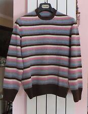 Altea maglia maglione uomo 100% lana vergine strisce colorate  Tg M