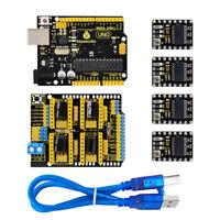 Keyestudio 3D Printer Kit CNC Shield V3+ UNO R3+ DRV8825 Drive Board for Arduino