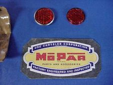 1949-50-51-52 MOPAR PLYMOUTH DODGE DESOTO TAIL LAMP REFLECTORS (NOS) PT# 1244981