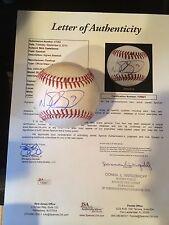 NICK CASTELLANOS RBI SINGLE 4/2014-RARE SIGNED MLB/JSA FULL LETTER-TIGERS ROY