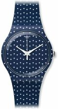 Swatch Unisex For The Love Of K Blue White Fun Fashion Dots 30M Watch SUON106