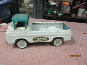 Vintage Nylint Ford Pony Farm Truck, Cab Over, Pressed Steel Toy Vehicle