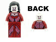 Lego 1 X MINIFIGURE Peluca De Pelo Largo Negro Novia Monstruo luchadores Vampiro