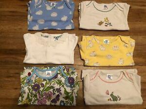 Baby Mini Boden Girls Long Sleeved Bodysuit Body Vest  0 3 6 9 12 18 24 Months