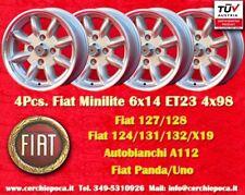 4 Cerchi FIAT Minilite 6x14 ET23 4x98 Wheels Felgen Llantas Jantes
