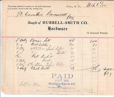 1912 HUBBELL SMITH Hardware COMPANY 78 Genesee Street Utica NEW YORK