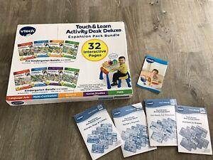 VTech Activity Desk 4-in-1 Pre-Kindergarten Expansion Pack Bundle 32 Pages