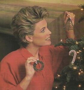 Crochet Pattern ONLY - Christmas Beaded Ornaments - Candy Cane, Tree & Wreath