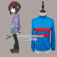 Game Undertale Protagonist Frisk Chara Unisex Cosplay Costume Sweatshirt Pants