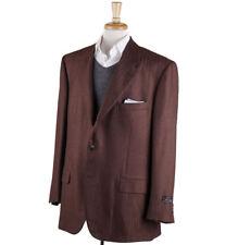 NWT $2995 D'AVENZA Chocolate Brown Herringbone Wool-Cashmere Sport Coat US 50 R