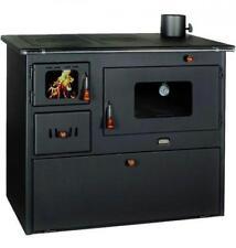 Cucina Stufe Stufa a legna in acciaio Lux-50 con forno colore antracite 16 KW
