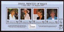 Gibraltar 1998 MNH SS, Diana, Surcharge - Princess of Wales Memorial