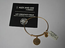 Alex and Ani Expandable + Energy Bracelet Rafelian Gold Let Creativity Rule NWT