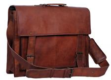 VINTAGE artigianato vera pelle uomo Messenger laptop valigetta borsa a tracolla Borsa da uomo