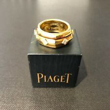 Piaget 18ct Yellow Gold Hexagonal Ring with Six Diamonds