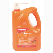 Swarfega 4L Orange Heavy Duty Hand Cleaner Garage Solvent Free Pump Action