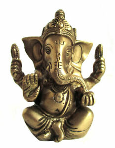 GANESH Lord Ganesha Statue Messing H=12 cm Ganapati Hinduismus Indien GOA
