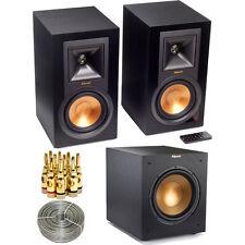 Klipsch R-15PM Powered Monitor Speakers Pair & R10SWi Wireless Subwoofer Bundle