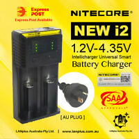 Nitecor new I2 Intellicharger 2channel Universal Battery Charger 18650 AA/AAA