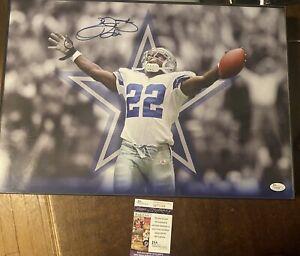 Emmitt Smith Autographed 13x19 Photo JSA Authentic Dallas Cowboys Signed Image