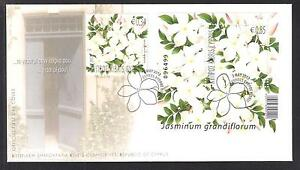 CYPRUS 2012 AROMATIC FLOWERS JASMINE MINIATURE SHEET & STAMP NICE OFFICIAL FDC