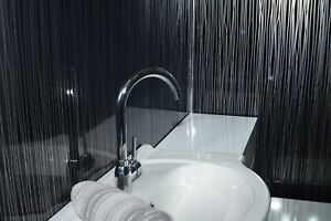 12 X Black Twine Bathroom Wall Cladding Panels Showerwall PVC Waterproof Panels