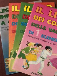 4 Libri scuola elementare compiti vacanze editrice Piccoli lettura anni 80 fiaba