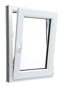 Fenêtre en PVC Blanc Aluplast 4000 un vantail oscillo-battant Largeur: 450 mm
