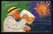 BRASSERIE carte publicitaire BIERE de MAXEVILLE CPA 54 chope biere fraiche
