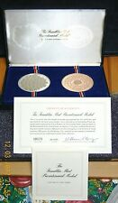 Silver & Bronze Bicentennial Medal Proof Set Limited Edition COA (July 1975)