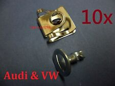 10X AUDI VW Under Engine Cover Undertray Screw and Washer Metal Dowel Pin Clips