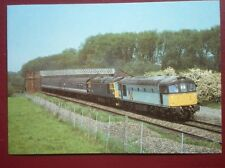POSTCARD C4-8 CLASS 33 LOCO NO 33021 & 33022 DOUBLE HEADS AT KETTERING 21/5/89